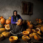 Lady with pumpkins © Mihnea Turcu