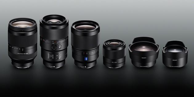 Четыре новых полнокадровых объектива с байонетом E и четыре конвертера для Sony Alpha