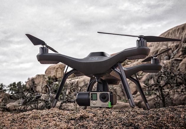 «Умный» дрон 3D Robotics Solo с компьютеризованным управлением