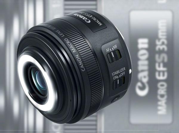 Макрообъектив с кольцевой вспышкой Canon EF-S 35mm F2.8 Macro IS STM