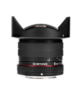 Samyang 8mm T3.8 AS IF UMC Fish-eye CS II VDSLR Nikon F