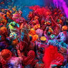 Burst of Red, Holi, India © Poras Chaudhary