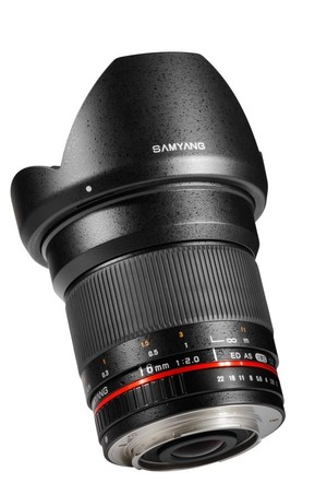 Объектив Samyang 16mm f/2.0 ED AS UMC CS Sony A