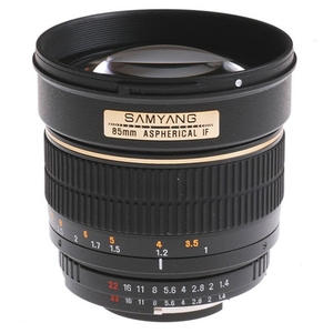 Samyang 85mm f/1.4 AS IF Canon EF (chip)
