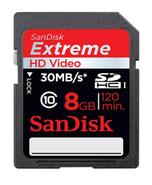 Носитель информации SanDisk Extreme SDHC UHS-I 45MB/s (HD Video)